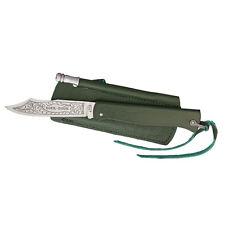 Douk Douk Folder Knife with Green Handle & Sharpening Rod - tactical vintage NEW