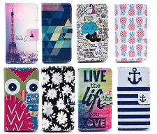 Fashion Design Wallet Flip Leather Stand Cover Case Microsoft Nokia Lumia 520 UK