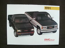 GMC Trucks 1991 - V-Jimmy Suburban Rally - US-Prospekt Brochure 1990