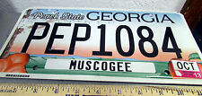 Georgia Metal License Plate, PEP1084, 2013 tags, Peach state, colorful peaches