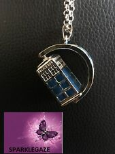 """BRAND NEW 2018 DR WHO """"POLICE BOX"""" 3D SILVER PLATED NECKLACE GIFT AUS SELLER 1"""