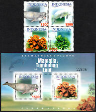 Indonesia 2083 Bl/4, 2083g S/S, MNH. Sea Mammals and Plants, 2005