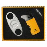 Cigar Lighter Cutter Accessories Set Gas Lighters Sharp cigar Cutter Set gift