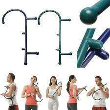 Back Hook Massager Neck Self Muscle Pressure Stick Trigger Point Rod Green DBUS