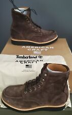 NEW MEN'S TIMBERLAND® AMERICAN CRAFT MOC TOE BOOT US 9.5