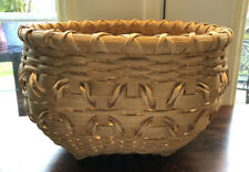 Baskets Of Snow Handcrafted Round Woven Fancy Table Basket 11x7.5� Lawrence, Ks