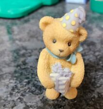 Cherished Teddies Happy Birthday Teddy Bear with Gift Figurine