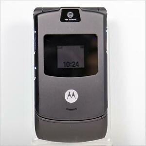 Motorola RAZR V3 (AT&T) Black Flip Phone - Vintage Collector - Fast Shipping!