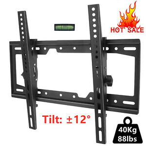 UK STOCK TV Wall Bracket Mount Slim Tilting ±12° Plasma LCD for 26-55'' LED