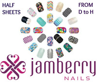 jamberry half sheets * D to H * buy 3+ get 15% off sale ~ NEW STOCK!! 🎁