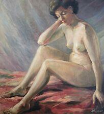 Hubert BORGUET (1908-1998), Ölgemälde, Frauenakt, signiert, 1967