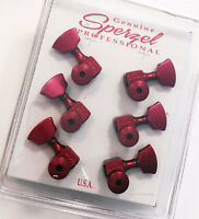 Sperzel 3x3 Trimlok 3 Per Side Locking Guitar Tuners 3+3 Tuning Pegs - RED
