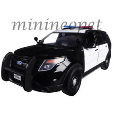 MOTORMAX 2015 FORD INTERCEPTOR 1/24 with LIGHT BAR UNMARKED POLICE BLACK WHITE