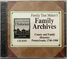 Tree Maker'S Archives County Family Histories Pennsylvania 1740-1900 New Cd #193