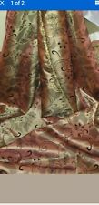 "1M PEACH  VELVET   FLORAL DAMASK POLYESTER TAFFETA  FABRIC 58"" WIDE one"