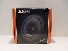 "MMATS 8"" LOUDSPEAKER 8ohm PA8018 Harley Bagger LIDS Pro Audio Full Range SPL SQ"