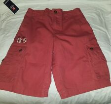 CHAPS Cargo Shorts Boys Size 12 Brick Red (Non-Adjustable Waist) BRAND NEW