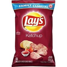 1 Bag Lays Ketchup Chips LARGE Family Size 235g From Canada FRESH & DELICIOUS!