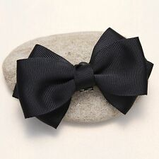 Simple Plain Ribbon Bow Butterfly High Heel Shoe Clips Charms Decoration Pair