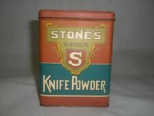 Vintage Stone's Superior  Knife Powder Tin