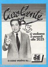 QUATTROR983-PUBBLICITA'/ADVERTISING-1983- CIAO GENTE con CORRADO su CANALE 5