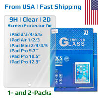 Tempered Glass Screen Protector for Apple iPad 2/3/4/5/6 Air Mini Pro 9.7 12.9
