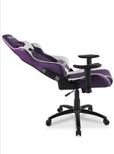 techni  sports TS-52 gaming chair purple and white