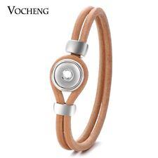 10pcs/lot Vocheng Snap Charms Double Leather Bracelet Fit 12mm Button NN-523*10