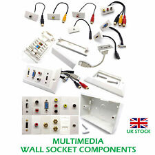 Ethernet Network Wall Socket Modular Faceplate: Multimedia HDMI VGA USB AV RCA