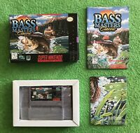 Bass Masters Classic Super Nintendo SNES Video Game Complete in Box CIB & GIFT!