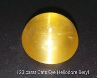 123.70 Ct Natural Heliodore Beryl Cats eye from Brazil by alifgems