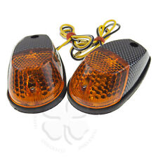 Croc Turn Signal Amber Carbon Universal Motorcycle Blinker Surface Mount Light