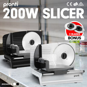 200W Pronti Electric Meat Slicer- Food Cheese Processor Vegetable Kitchen Deli