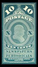 US #PR2TC; 10¢ NEWSPAPER PLATE PROOF ON WOVE PAPER, VF-NGAI-HR, SCARCE PROOF!
