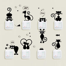 Lovely Cat Light Switch Wall Stickers Home Decor Cartoon Animal Wall Vinyl Decal