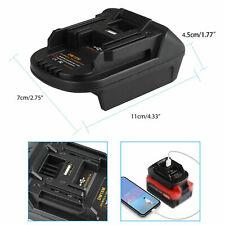 Adapter Converter for Milwaukee M18 or DEWALT 20V Li-ion Battery to Makita 18V