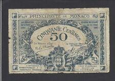 MONACO  -  50  CENTIMES  1920     @    @