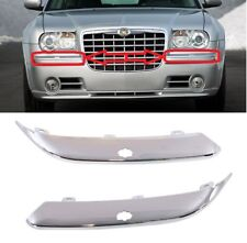 NEW CHRYSLER 300C 2005-2011 FRONT BUMPER CHROME TRIMS WASHER MOULDINGS PAIR SET