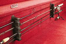 Horizontal Fishing Equipment Gear 4 Pole Rod Rack Wall Mount Holder Storage Stan