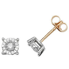 Diamond Solitaire Earrings Yellow Gold 0.35ctw Appraisal Certificate