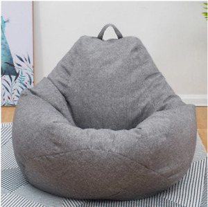 Giant Bean Bag Memory Foam Living Room Chair Lazy Sofa Soft Cover Lounger
