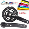 7Colors Double Speed 26/38T 104/64bcd Chainset Chainring 170mm Crank set BB