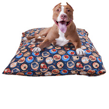 """New listing Dog Bed Cover Durable Replacement Zipper Mat Cover Xl 40"""" x 60"""" Navy Multi Dogs"""
