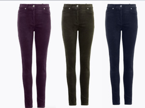 M&S COLLECTION  Velvet Corduroy Skinny Ankle Grazer Trousers PRP £39.50