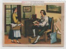 1796 Senefelder Discovers Principle of lithography Printing Vintage Trade Card