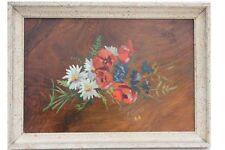 Stilleben mit Blumen, signiert A.Claus (19)48 , Ölgemälde