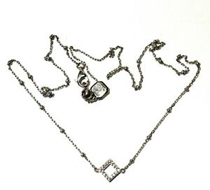 925 Sterling Silver Kiera Cubic Zirconia cz chain necklace 3.7g adjustable