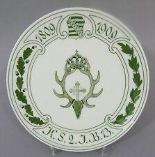 (MT117) Meissen Regimentsteller 2. Königlich Sächsische Jäger-Bataillon Nr.13