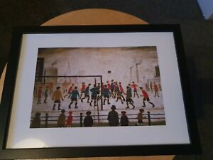"""L.s Lowry """" The Football Match"""" Framed Print"""