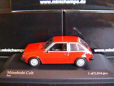 MITSUBISHI COLT GL 1978 RED MINICHAMPS 400163501 1/43 ROSSO ROT ROUGE